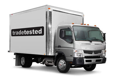 Trade Tested delivery truck